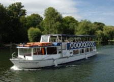 A passenger boat on the River Thames