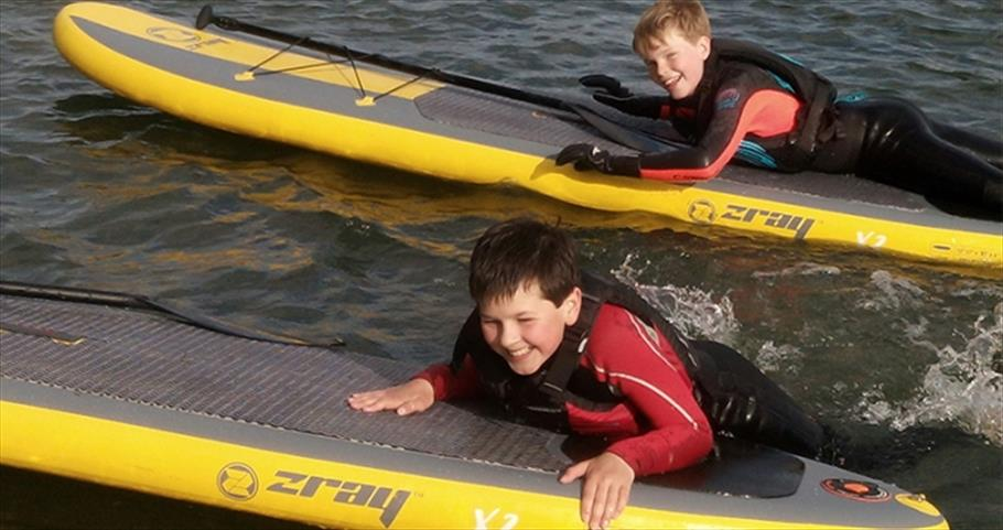 Ody Boat Hire  - Boys on SUP