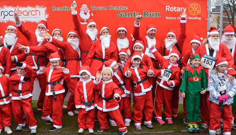 Reading Santa Charity Run