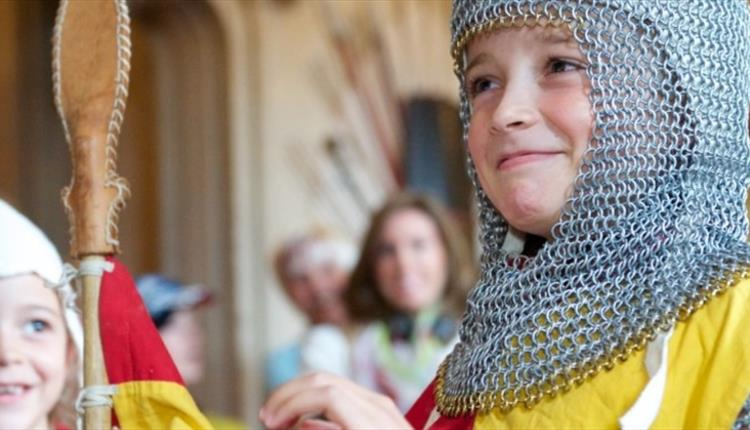 Knights in training day at Windsor Castle